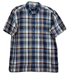 Patagonia Worn Wear Button Up Plaid Shirt Hiking